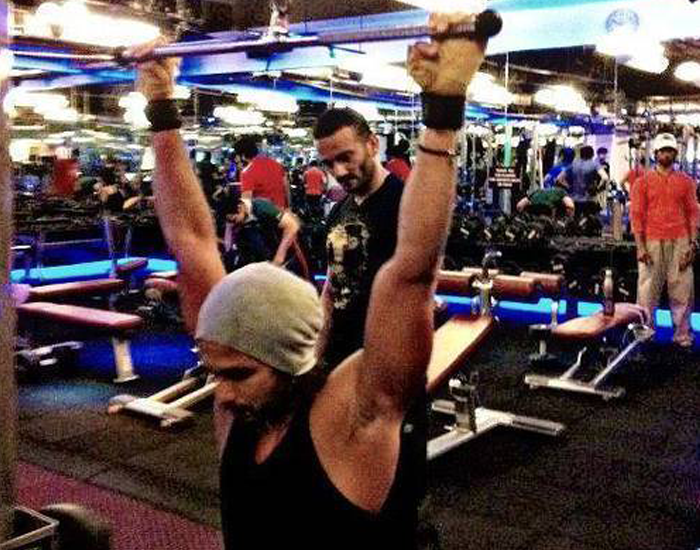 Shahid Kapoor gym Workout