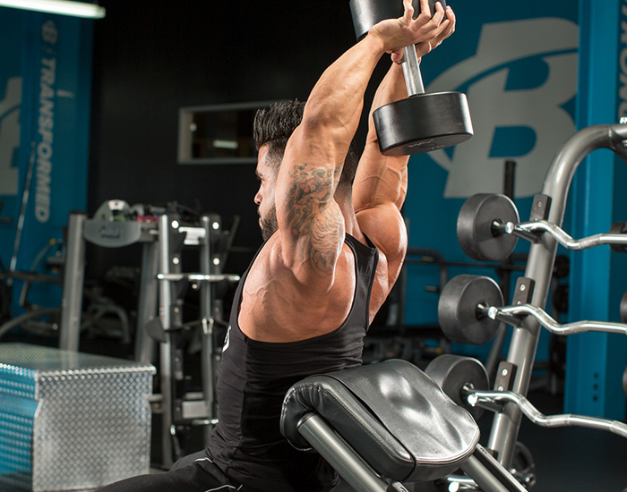 Dumbbell Overhead Triceps Press