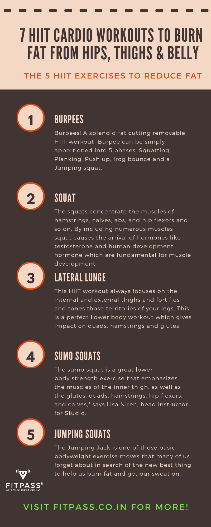 7 HIIT Cardio Workouts to reduce fat