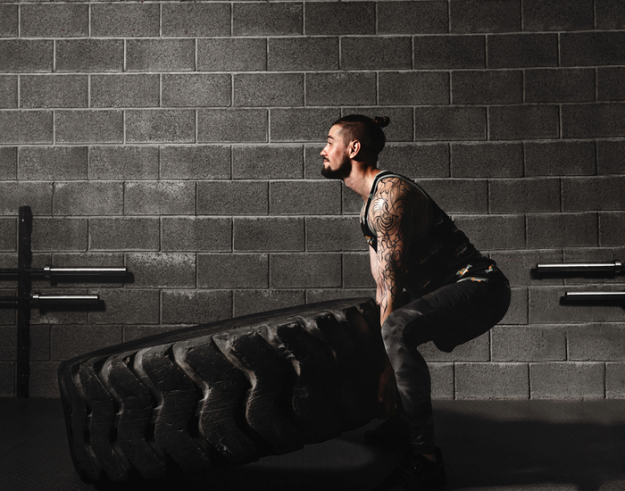 crossfit workout and gym
