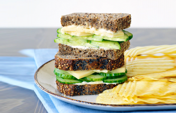 Cucumber cheese sandwich