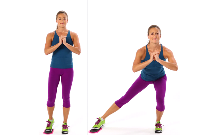 SIDE Lunges Sweep