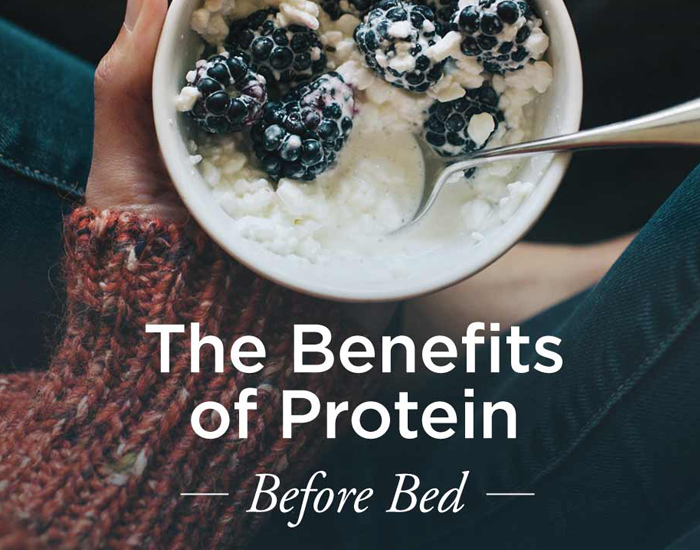Take protein before bedtime