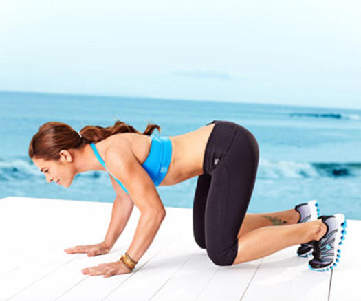 Burpees Workout Pushup Frog Bounce