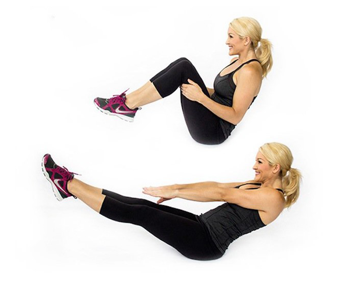 Knee Tuck Crunches