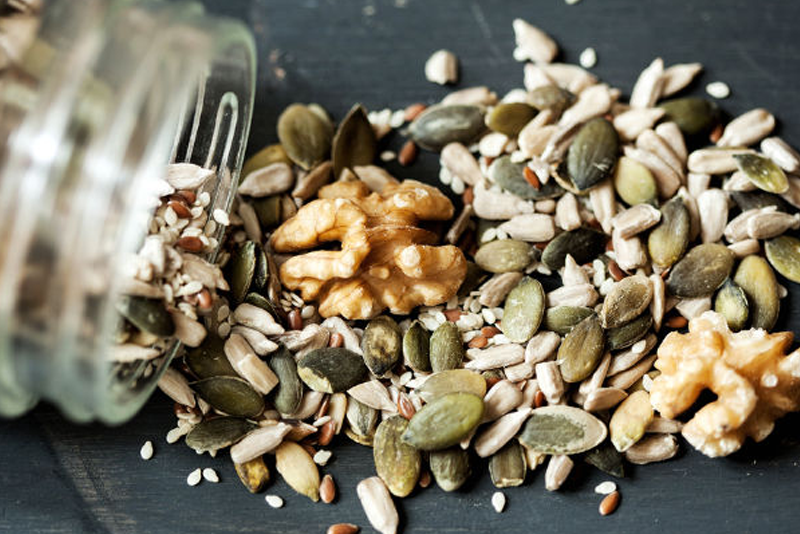 Stack on Nuts and Seeds