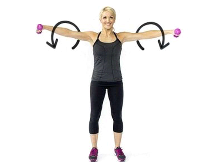 Arm Circles with weight - shoulder exercise