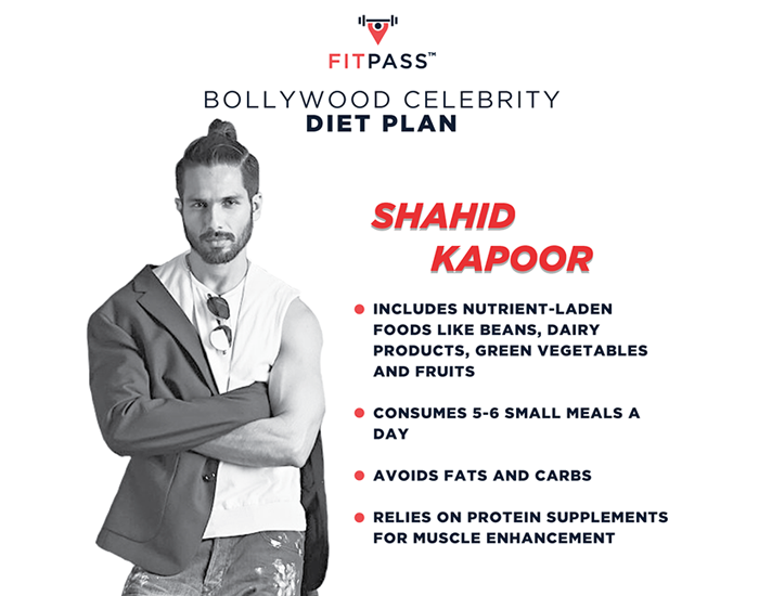Shahid Kapoor Diet plan