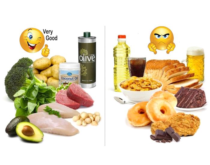 sources of good fats vs bad fats