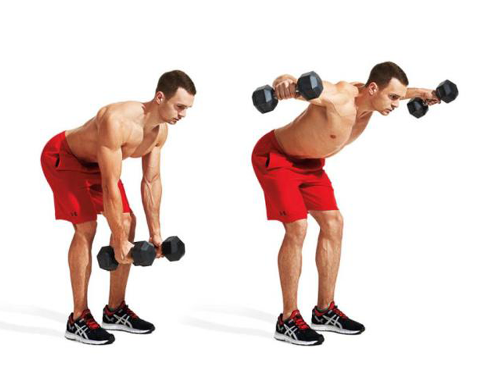 Dumbell bent over rows
