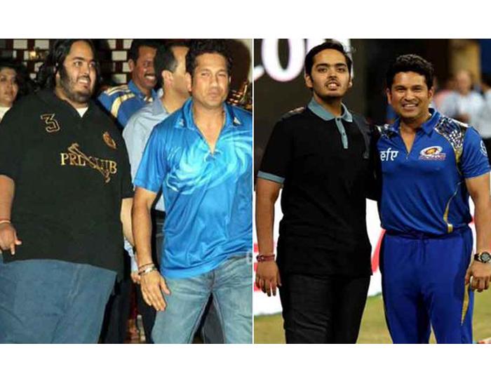 Fit Anant Ambani after Transformation With Sachin Tendulkar At IPL
