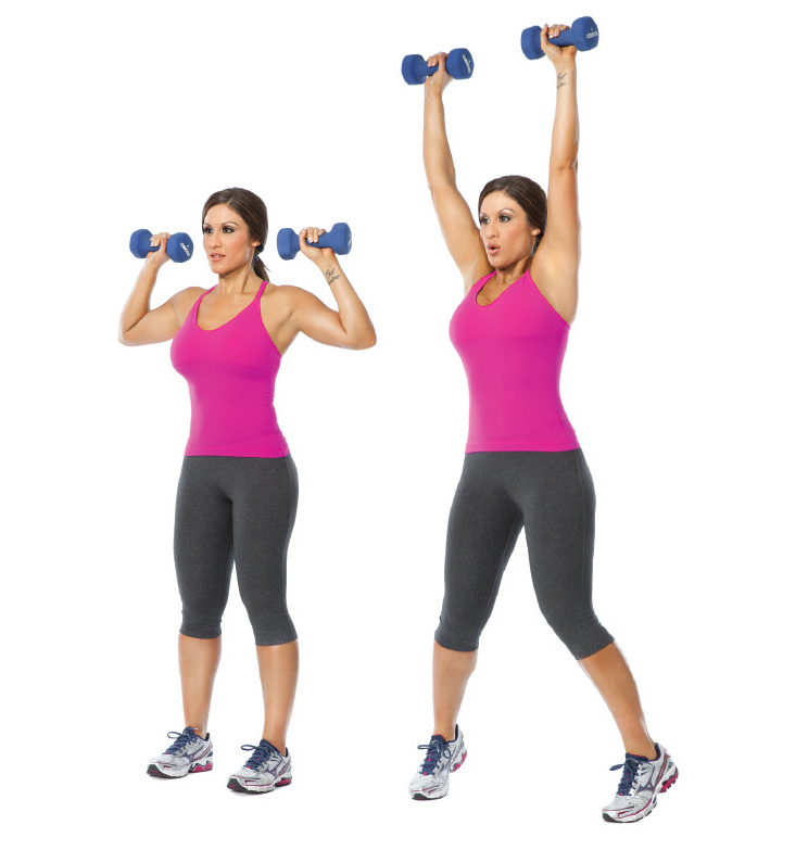 Jumping Jacks with overhead Dumbbell Press