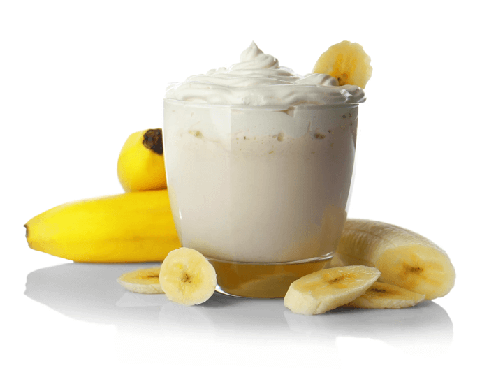 Banana shake is pressed with high in supplements