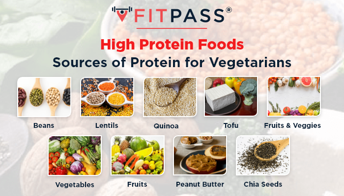 High Protein Foods - Sources of Protein for Vegetarians