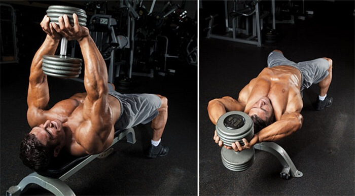 Inclined Dumbbell Pullover
