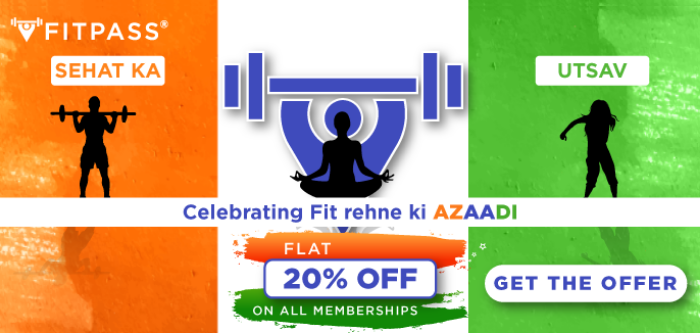 FITPASS INDEPENDENCE DAY OFFER- Flat 20% Off On All Our Services