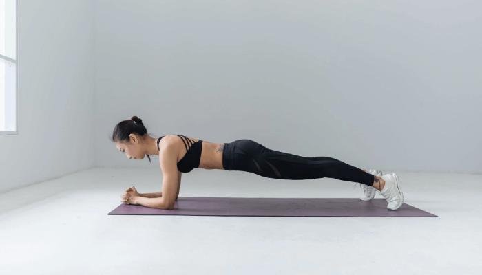 Plank Pose (Uttihita Chaturanga Dandasana)