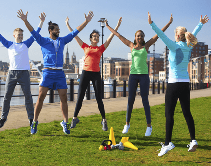 Jumping Jacks with Group