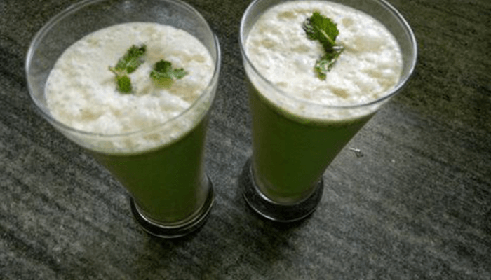 Savor the freshness of minty butter-milk