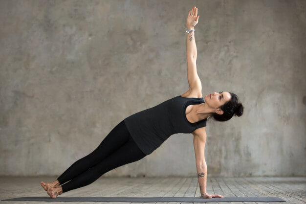 Side plank and twist