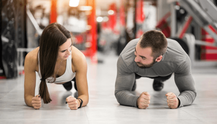 Working out is fun with friends