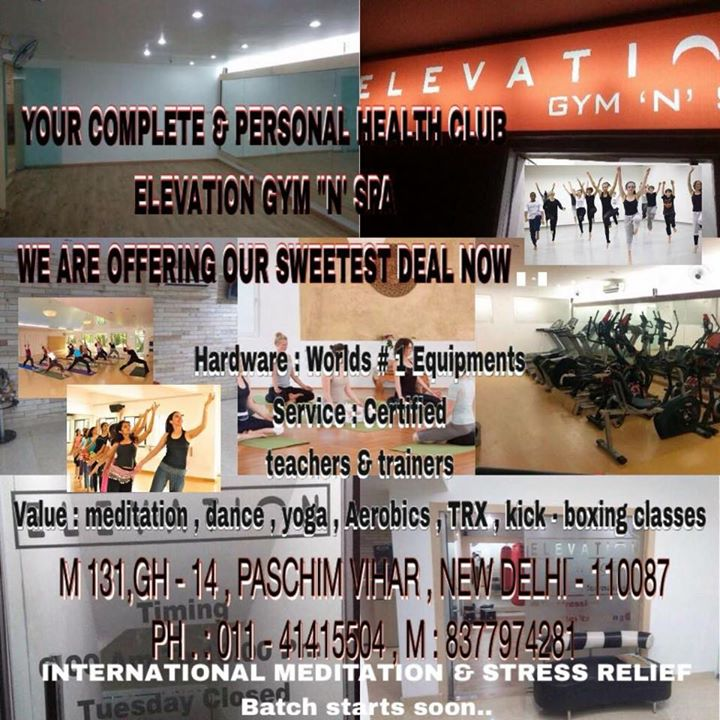 Elevation Gym N Spa Paschim Vihar